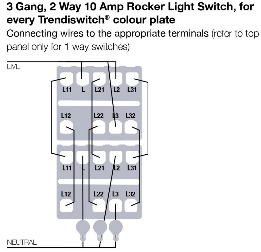 1 Gang Light Switch Wiring Diagram